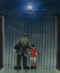 Shankly Gates by Mackenzie Thorpe - Limited Edition on Paper sized 18x22 inches. Available from Whitewall Galleries